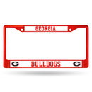 Georgia Bulldogs License Plate Frame Metal Red