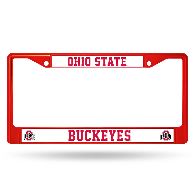 Ohio State Buckeyes License Plate Frame Metal Red