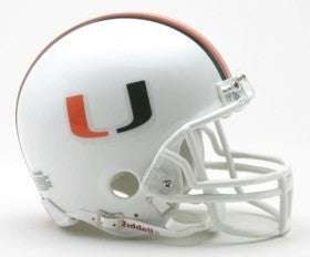 Miami Hurricanes Replica Mini Helmet w/ Z2B Mask