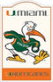 Miami Hurricanes Nostalgic Metal Sign