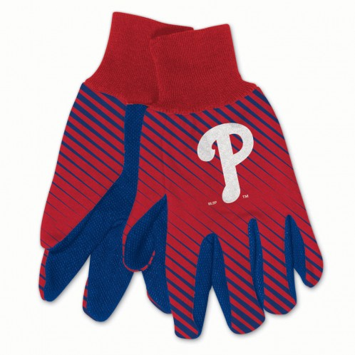 Philadelphia Phillies Gloves Two Tone Style Adult Size Size - Special Order