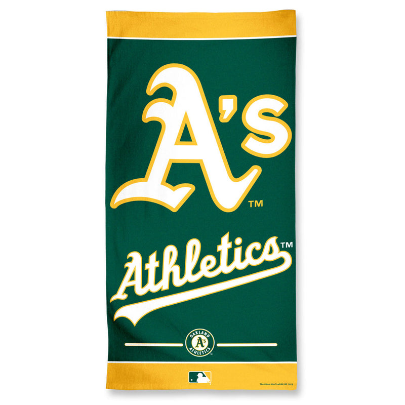 Oakland Athletics Towel 30x60 Beach Style