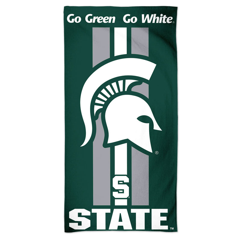Michigan State Spartans Towel 30x60 Beach Style