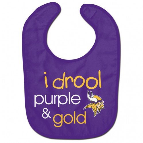 Minnesota Vikings Baby Bib All Pro Style I Drool Design