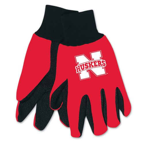 Nebraska Cornhuskers  Two Tone Gloves - Youth
