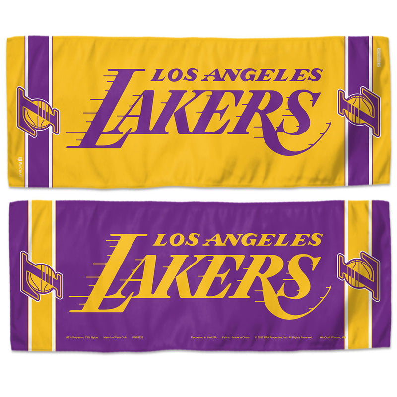 Los Angeles Lakers Cooling Towel 12x30
