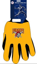 Pittsburgh Pirates Two Tone Gloves - Adult Size - Special Order