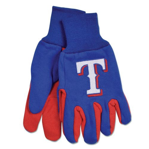 Texas Rangers Two Tone Gloves - Adult Size
