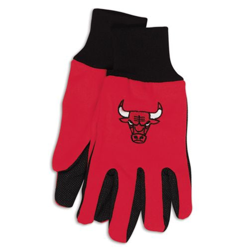 Chicago Bulls Two Tone Gloves - Adult