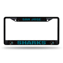 SAN JOSE SHARKS BLACK CHROME FRAME