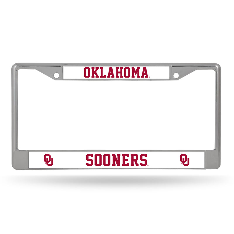 OKLAHOMA UNIVERSITY CHROME FRAME