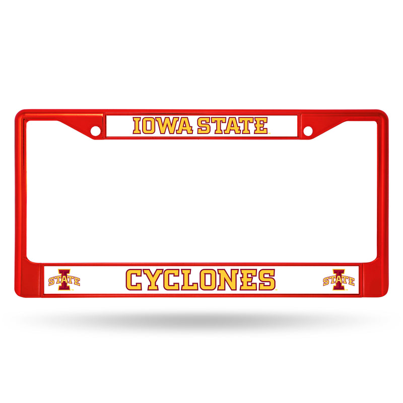 IOWA STATE RED COLORED CHROME FRAME