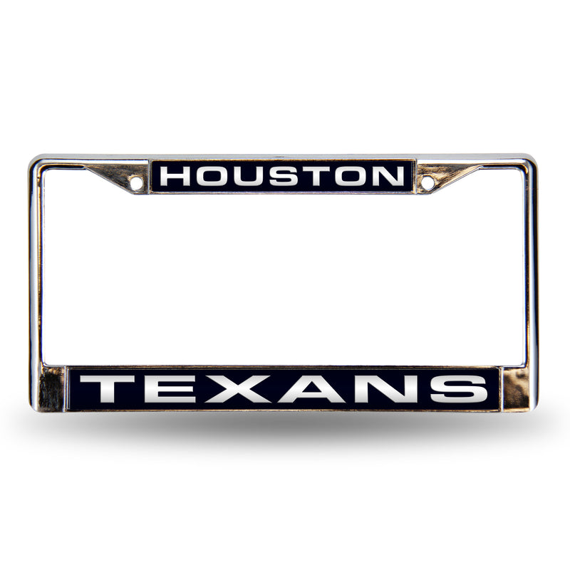TEXANS BLUE LASER CHROME FRAME
