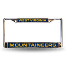 W. VIRGINIA BLUE LASER CHROME FRAME