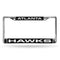 HAWKS LASER CHROME FRAME  - BLACK BACKGROUND WITH WHITE LETTERS