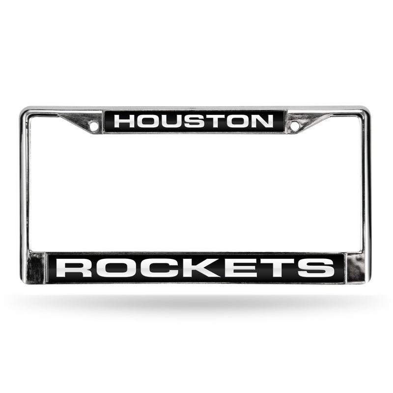 ROCKETS LASER CHROME FRAME  - BLACK BACKGROUND WITH WHITE LETTERS