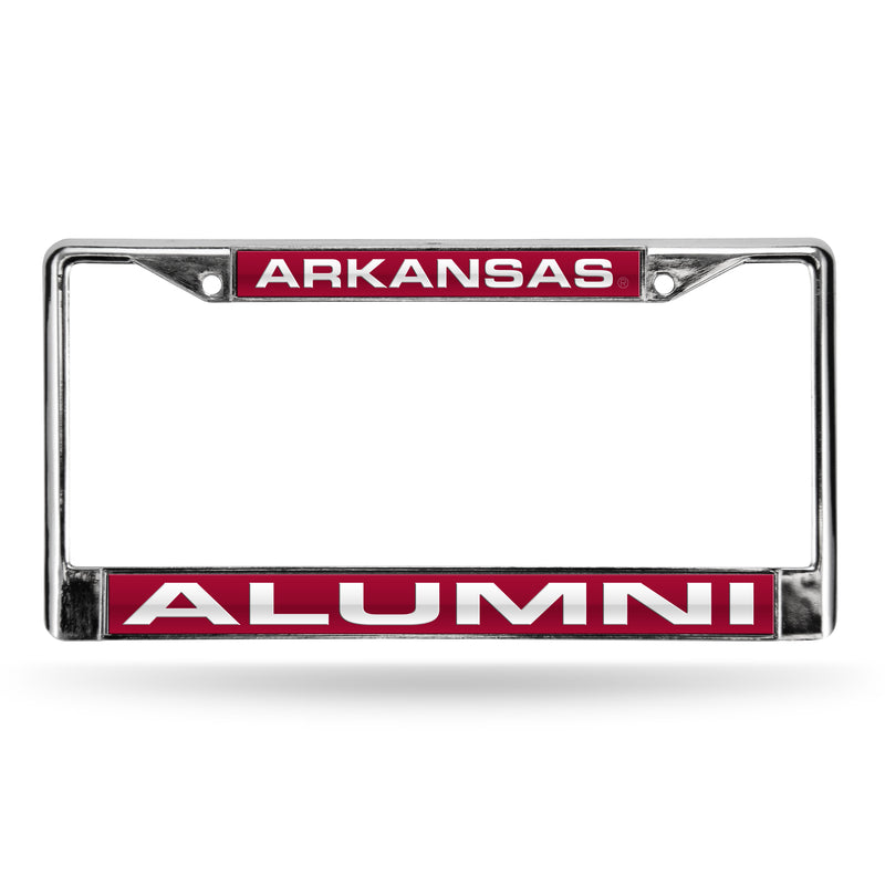ARKANSAS ALUMNI RED LASER CHROME FRAME