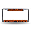 CHICAGO BEARS BLACK LASER CHROME FRAME
