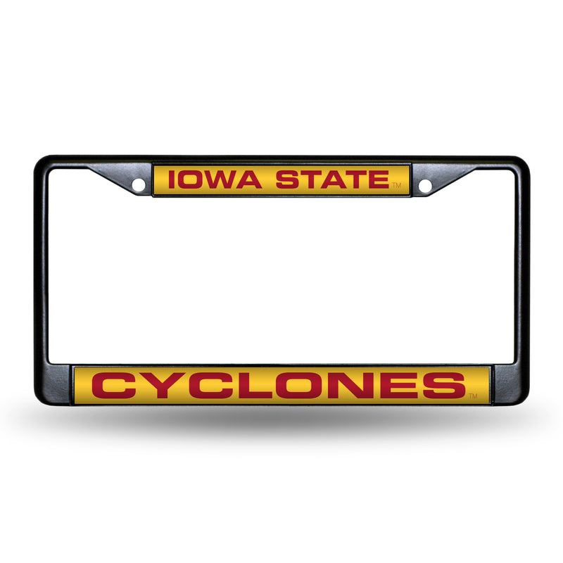 IOWA STATE BLACK LASER CHROME FRAME