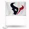 HOUSTON TEXANS WHITE BKG CAR FLAG