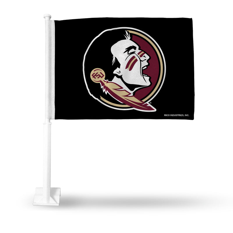 FSU LOGO CAR FLAG BLACK