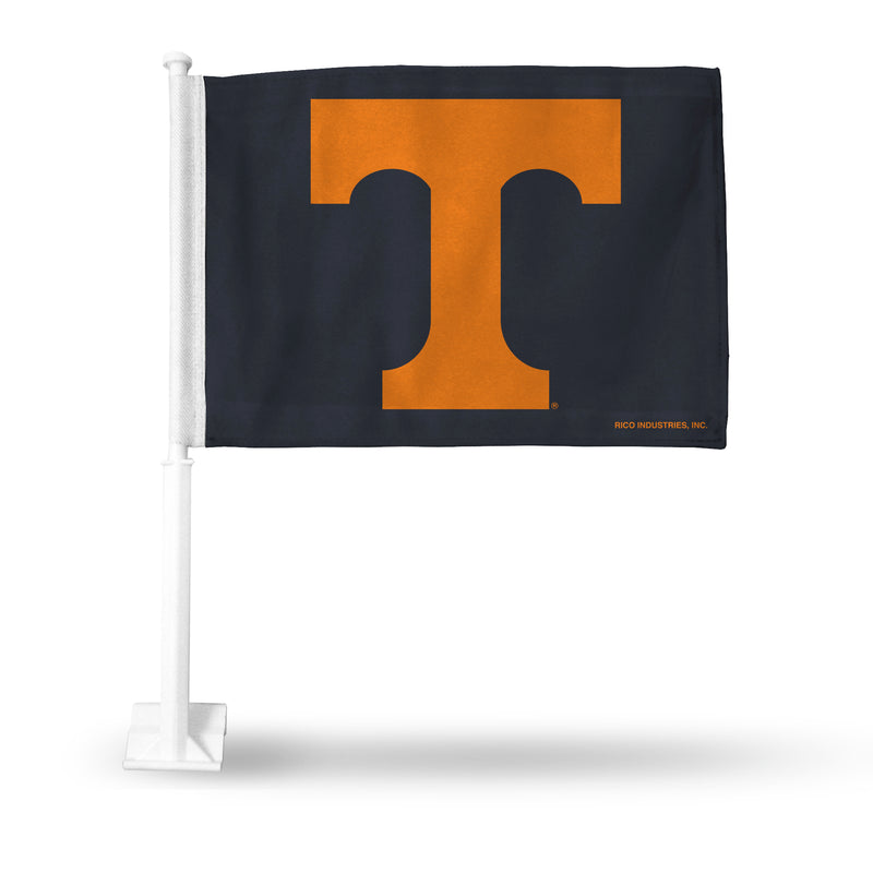 UNIVERSITY OF TENNESSEE (ORANGE T ON GREY) CAR FLAG