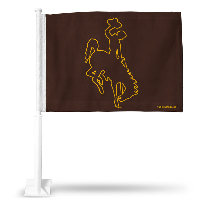 WYOMING CAR FLAG