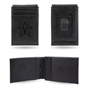 VANDERBILT LASER ENGRAVED BLACK FRONT POCKET WALLET