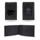 KANSAS STATE UNIVERSITY LASER ENGRAVED BLACK FRONT POCKET WALLET