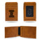 ILLINOIS UNIVERSITY LASER ENGRAVED BROWN FRONT POCKET WALLET