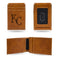 ROYALS LASER ENGRAVED BROWN FRONT POCKET WALLET