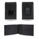 MARLINS LASER ENGRAVED BLACK FRONT POCKET WALLET
