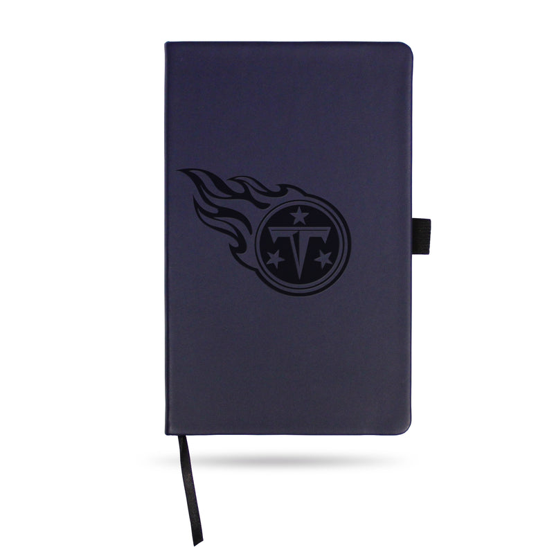 TITANS TEAM COLOR LASER ENGRAVED NOTEPAD W/ ELASTIC BAND - NAVY