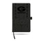 GEORGIA UNIVERSITY LASER ENGRAVED BLACK NOTEPAD WITH ELASTIC BAND