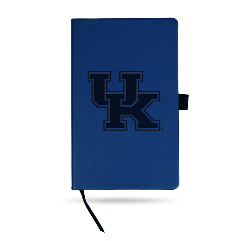 KENTUCKY UNIVERSITY TEAM COLOR LASER ENGRAVED NOTEPAD W/ ELASTIC BAND - ROYAL