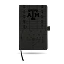 TEXAS A&M LASER ENGRAVED BLACK NOTEPAD WITH ELASTIC BAND