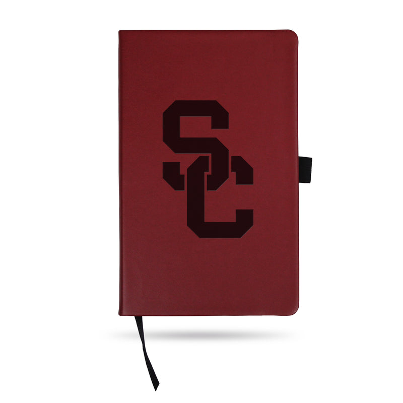 SOUTHERN CALIFORNIA TEAM COLOR LASER ENGRAVED NOTEPAD W/ ELASTIC BAND - MAROON