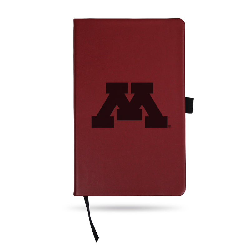 MINNESOTA UNIVERSITY TEAM COLOR LASER ENGRAVED NOTEPAD W/ ELASTIC BAND - MAROON