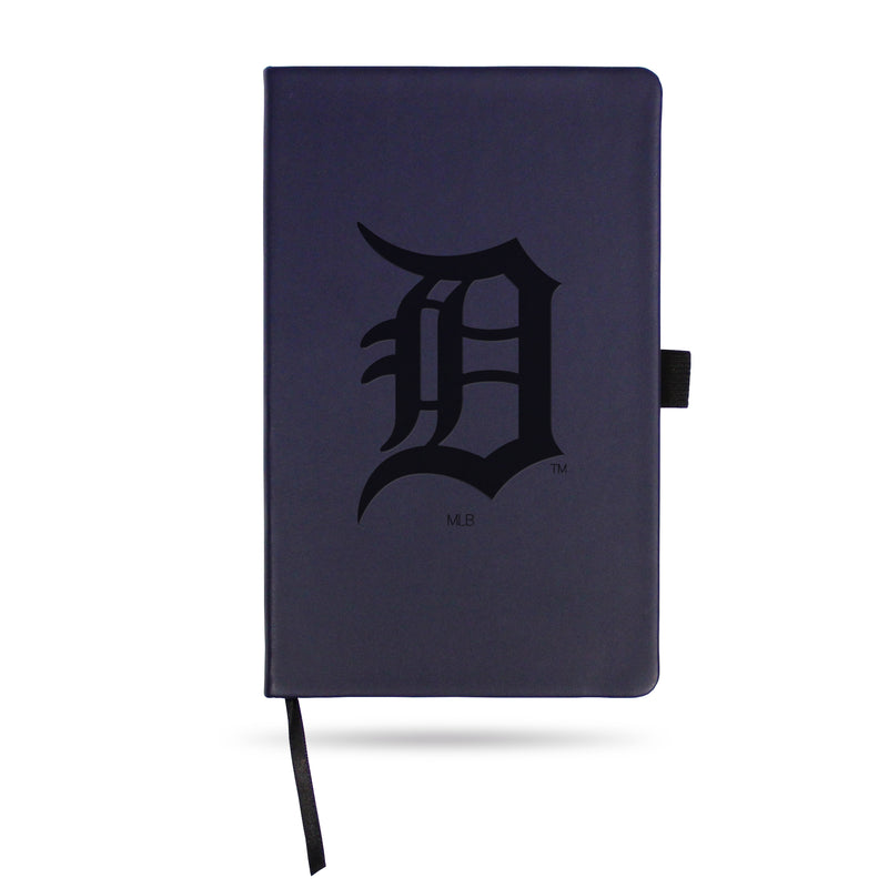 TIGERS TEAM COLOR LASER ENGRAVED NOTEPAD W/ ELASTIC BAND - NAVY