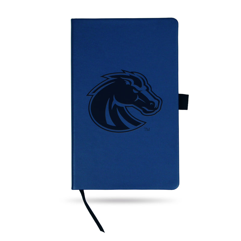 BOISE STATE TEAM COLOR LASER ENGRAVED NOTEPAD W/ ELASTIC BAND - ROYAL