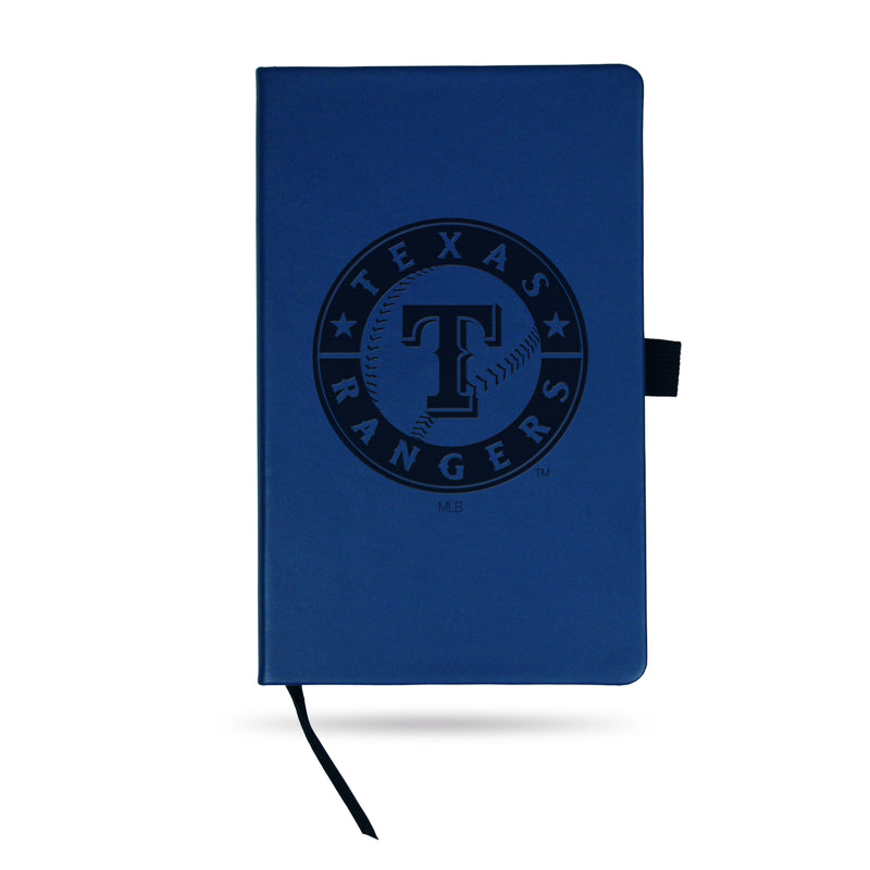 RANGERS - TX TEAM COLOR LASER ENGRAVED NOTEPAD W/ ELASTIC BAND - ROYAL