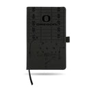 OREGON UNIVERSITY LASER ENGRAVED BLACK NOTEPAD WITH ELASTIC BAND