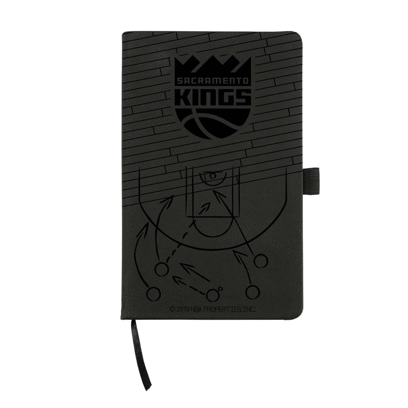KINGS - SAC LASER ENGRAVED BLACK NOTEPAD WITH ELASTIC BAND