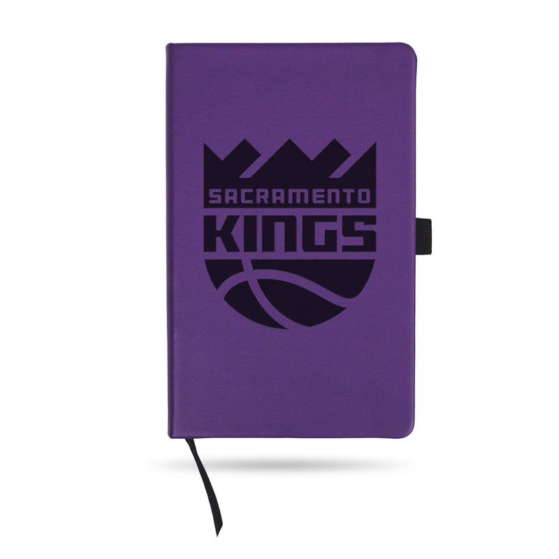 KINGS - SAC TEAM COLOR LASER ENGRAVED NOTEPAD W/ ELASTIC BAND - PURPLE