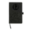 MAVERICKS LASER ENGRAVED BLACK NOTEPAD WITH ELASTIC BAND