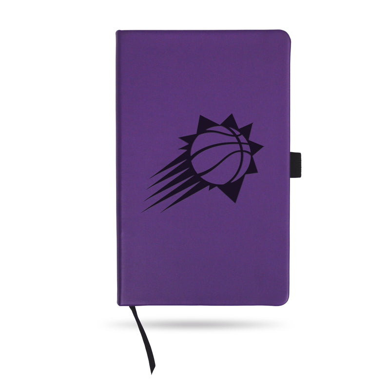 SUNS TEAM COLOR LASER ENGRAVED NOTEPAD W/ ELASTIC BAND - PURPLE
