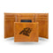 PANTHERS LASER ENGRAVED BROWN TRIFOLD WALLET