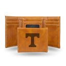 TENNESSEE UNIVERSITY LASER ENGRAVED BROWN TRIFOLD WALLET