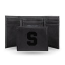 SYRACUSE UNIVERSITY LASER ENGRAVED BLACK TRIFOLD WALLET