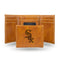 WHITE SOX LASER ENGRAVED BROWN TRIFOLD WALLET